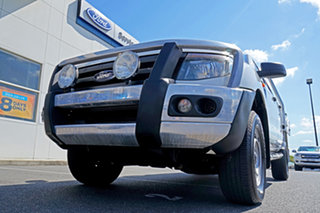 2014 Ford Ranger PX XL Double Cab 4x2 Hi-Rider Cool White 6 Speed Sports Automatic Cab Chassis