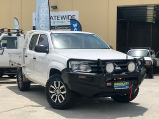 2014 Volkswagen Amarok 2H MY14 TDI400 (4x4) White 6 Speed Manual Dual Cab Utility.