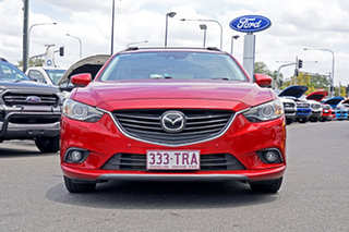 2013 Mazda 6 GJ1021 Atenza SKYACTIV-Drive Red 6 Speed Sports Automatic Wagon.