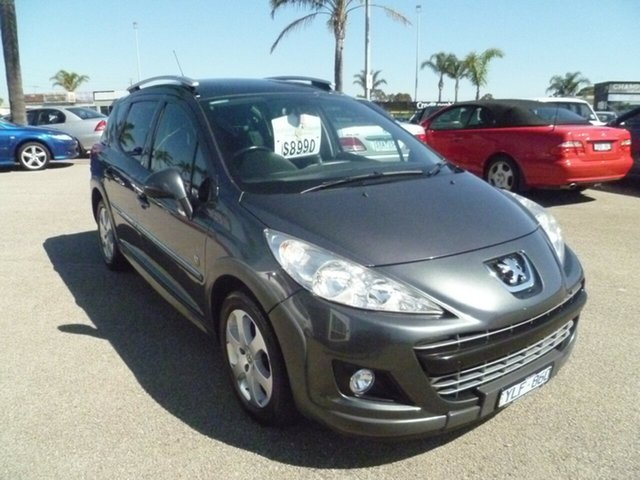 Used Peugeot 207 A7 Series II MY10 Outdoor Touring, 2010 Peugeot 207 A7 Series II MY10 Outdoor Touring Grey 4 Speed Sports Automatic Wagon