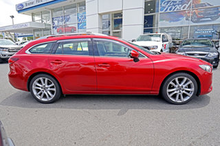 2013 Mazda 6 GJ1021 Atenza SKYACTIV-Drive Red 6 Speed Sports Automatic Wagon