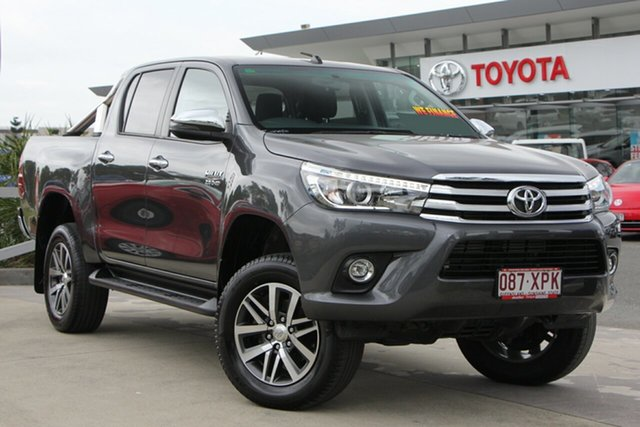Used Toyota Hilux GUN126R SR5 Double Cab, 2017 Toyota Hilux GUN126R SR5 Double Cab Graphite 6 Speed Manual Utility