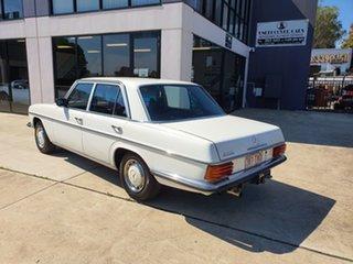 1974 Mercedes-Benz 280 W114 White Automatic Sedan.