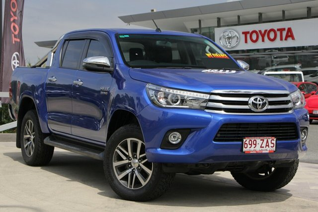 Used Toyota Hilux GUN126R SR5 Double Cab, 2017 Toyota Hilux GUN126R SR5 Double Cab Nebula Blue 6 Speed Sports Automatic Utility