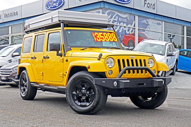 Used Jeep Wrangler JK MY2014 Unlimited Overland, 2014 Jeep Wrangler JK MY2014 Unlimited Overland Yellow 5 Speed Automatic Hardtop