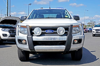2014 Ford Ranger PX XL Double Cab 4x2 Hi-Rider Cool White 6 Speed Sports Automatic Cab Chassis.