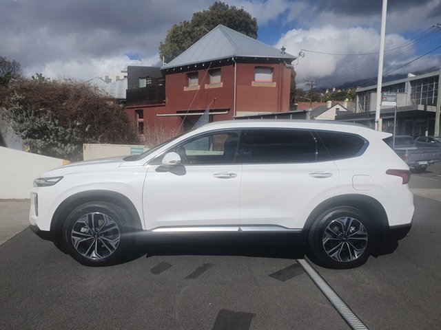 Demo Hyundai Santa Fe TM.2 MY20 Highlander, 2019 Hyundai Santa Fe TM.2 MY20 Highlander White Cream 8 Speed Sports Automatic Wagon