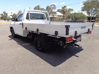 2019 Toyota Hilux TGN121R Workmate 4x2 Glacier White 5 Speed Manual Cab Chassis