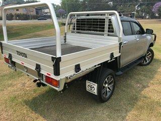 2017 Toyota Hilux GUN126R MY17 SR5 (4x4) Silver Sky 6 Speed Automatic Dual Cab Utility