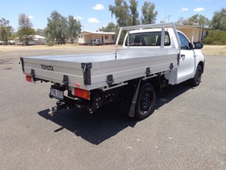 2019 Toyota Hilux TGN121R Workmate 4x2 Glacier White 5 Speed Manual Cab Chassis.