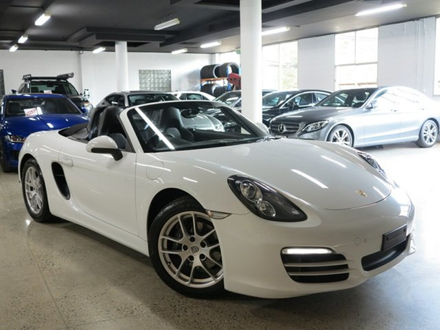 Used Porsche Boxster 981 PDK, 2014 Porsche Boxster 981 PDK White 7 Speed Sports Automatic Dual Clutch Convertible