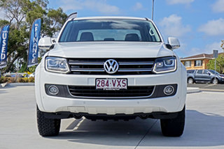 2015 Volkswagen Amarok 2H MY15 TDI420 4Motion Perm Highline Candy White 8 Speed Automatic Utility.