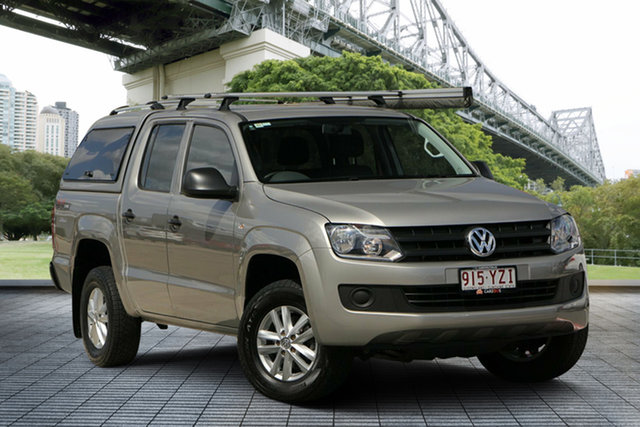 Used Volkswagen Amarok 2H MY15 TDI420 4MOTION Perm Core, 2015 Volkswagen Amarok 2H MY15 TDI420 4MOTION Perm Core Beige 8 Speed Automatic Utility