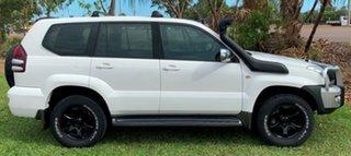 2003 Toyota Landcruiser Prado KZJ120R GXL White 5 Speed Manual Wagon.