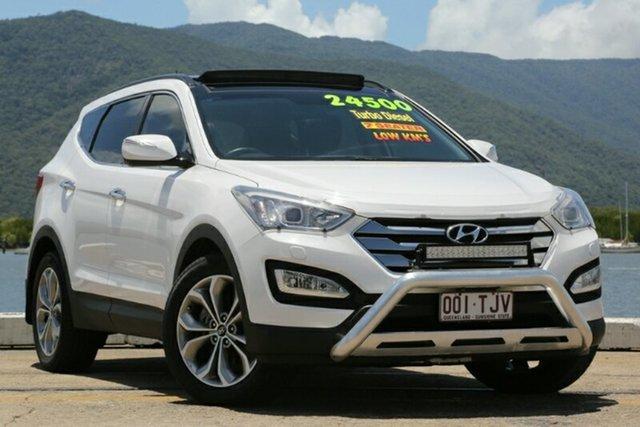 Used Hyundai Santa Fe DM MY14 Highlander, 2013 Hyundai Santa Fe DM MY14 Highlander White 6 Speed Sports Automatic Wagon