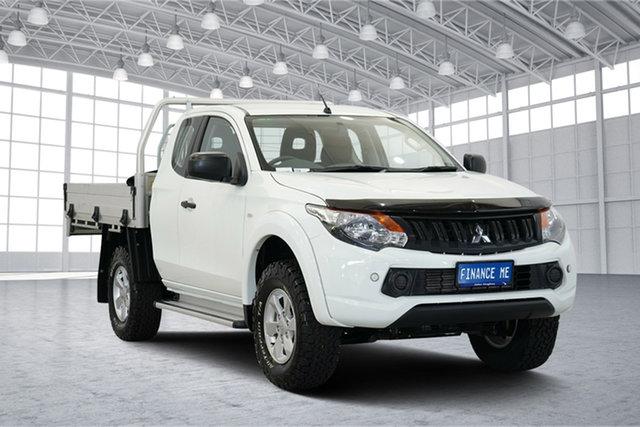 Used Mitsubishi Triton MQ MY18 GLX+ Club Cab, 2018 Mitsubishi Triton MQ MY18 GLX+ Club Cab White 5 Speed Sports Automatic Utility