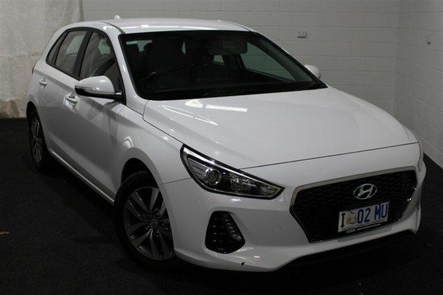 Used Hyundai i30 PD MY18 Active, 2018 Hyundai i30 PD MY18 Active Polar White 6 Speed Sports Automatic Hatchback