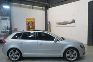 2013 Audi A3 8P MY13 Ambition Sportback S Tronic Silver 7 Speed Sports Automatic Dual Clutch.