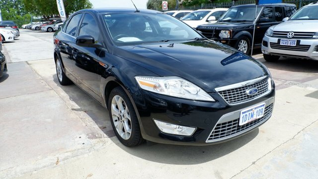 Used Ford Mondeo MB MY11 Zetec, 2010 Ford Mondeo MB MY11 Zetec Black 6 Speed Sports Automatic Hatchback