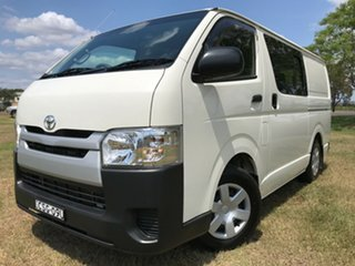 2014 Toyota HiAce KDH201R MY14 LWB French Vanilla 4 Speed Automatic Van.