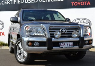 2012 Toyota Landcruiser VDJ200R MY12 Sahara (4x4) Graphite 6 Speed Automatic Wagon.