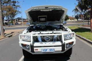 2012 Nissan Patrol GU VIII ST (4x4) White 4 Speed Automatic Wagon