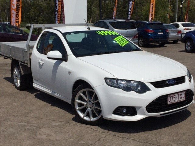 Used Ford Falcon FG MkII XR6 Super Cab, 2014 Ford Falcon FG MkII XR6 Super Cab White 6 Speed Sports Automatic Cab Chassis