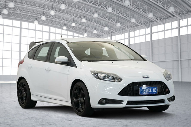 Used Ford Focus LW MkII ST, 2013 Ford Focus LW MkII ST Frozen White 6 Speed Manual Hatchback