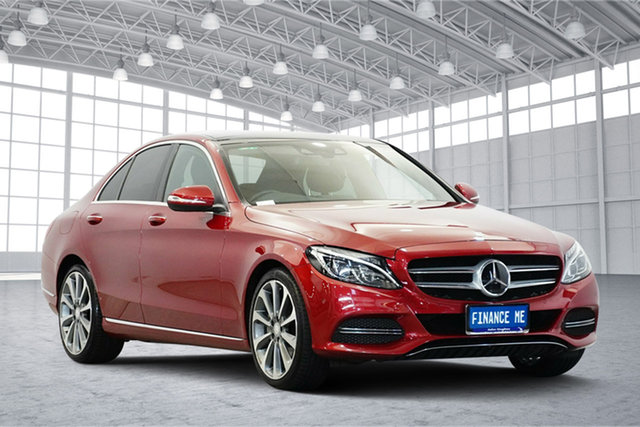 Used Mercedes-Benz C-Class W205 C250 7G-Tronic +, 2015 Mercedes-Benz C-Class W205 C250 7G-Tronic + Red 7 Speed Sports Automatic Sedan