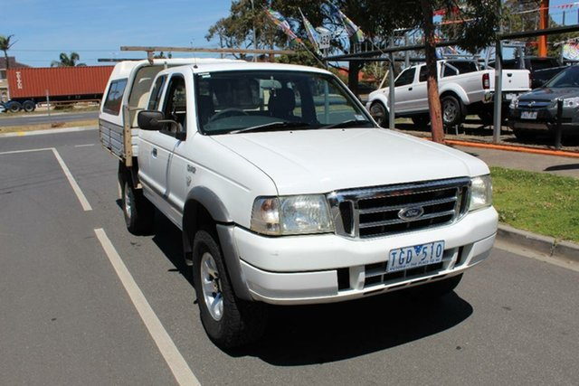 Used Ford Courier PH XL (4x4), 2004 Ford Courier PH XL (4x4) White 5 Speed Manual Super Cab Chassis