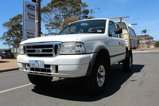 2004 Ford Courier PH XL (4x4) White 5 Speed Manual Super Cab Chassis