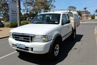 2004 Ford Courier PH XL (4x4) White 5 Speed Manual Super Cab Chassis.