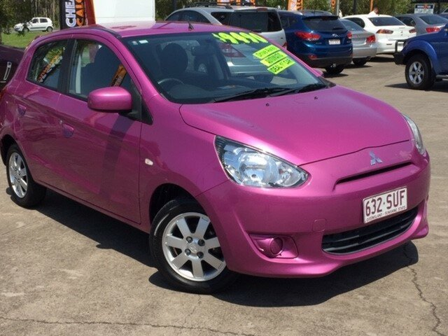 Used Mitsubishi Mirage LA MY14 ES, 2013 Mitsubishi Mirage LA MY14 ES Mulberry 1 Speed Constant Variable Hatchback