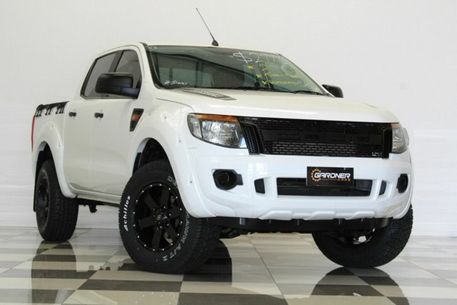 Used Ford Ranger PX XL 2.2 Hi-Rider (4x2), 2014 Ford Ranger PX XL 2.2 Hi-Rider (4x2) White 6 Speed Automatic Crew Cab Pickup