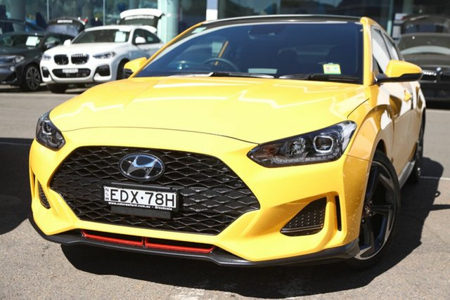 Demo Hyundai Veloster JS MY20 Turbo Coupe D-CT Premium, 2019 Hyundai Veloster JS MY20 Turbo Coupe D-CT Premium Thunder Bolt 7 Speed