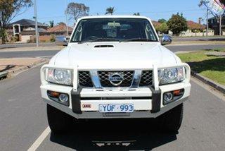 2012 Nissan Patrol GU VIII ST (4x4) White 4 Speed Automatic Wagon.