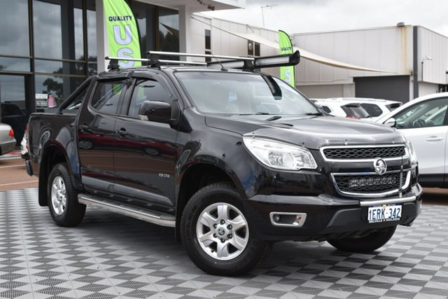 Used Holden Colorado RG MY15 LT Crew Cab, 2014 Holden Colorado RG MY15 LT Crew Cab Black 6 Speed Sports Automatic Utility
