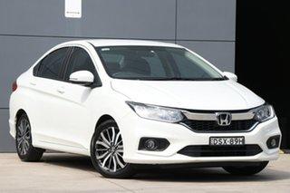 2017 Honda City GM MY18 VTi-L White 7 Speed Constant Variable Sedan.