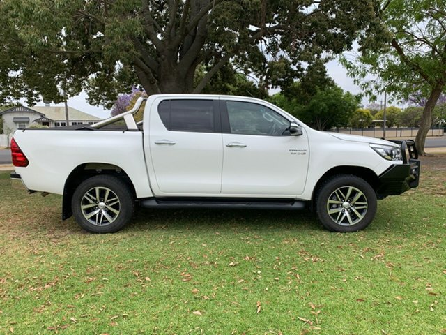 Used Toyota Hilux GUN126R SR5 Double Cab, 2018 Toyota Hilux GUN126R SR5 Double Cab White 6 Speed Sports Automatic Utility