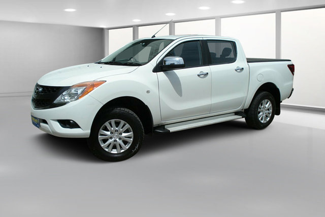 Used Mazda BT-50 UP0YF1 XTR, 2014 Mazda BT-50 UP0YF1 XTR Cool White 6 Speed Sports Automatic Utility