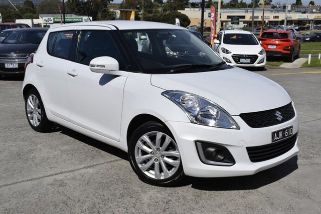 Used Suzuki Swift FZ MY15 GLX Navigator, 2016 Suzuki Swift FZ MY15 GLX Navigator White 4 Speed Automatic Hatchback