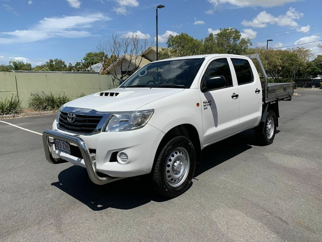 Used Toyota Hilux KUN26R SR, 2015 Toyota Hilux KUN26R SR White 5 Speed Automatic Dual Cab