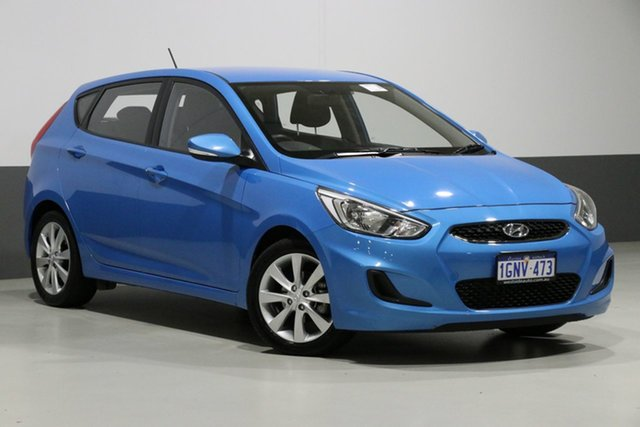 Used Hyundai Accent RB6 MY18 Sport, 2018 Hyundai Accent RB6 MY18 Sport Blue 6 Speed Automatic Hatchback