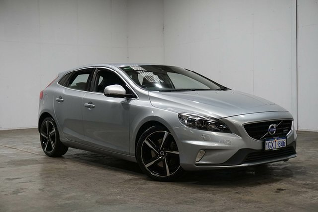 Used Volvo V40 M Series MY15 T5 Adap Geartronic R-Design, 2015 Volvo V40 M Series MY15 T5 Adap Geartronic R-Design Silver 8 Speed Sports Automatic Hatchback