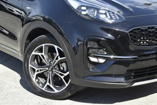 2018 Kia Sportage QL MY19 GT-Line AWD Cherry Black 8 Speed Sports Automatic Wagon.