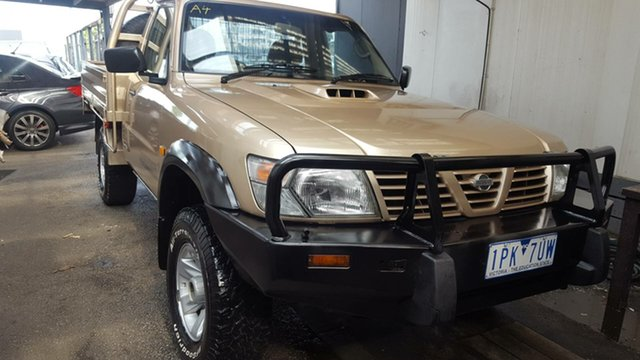 Used Nissan Patrol GU ST, 1999 Nissan Patrol GU ST Gold 5 Speed Manual Cab Chassis