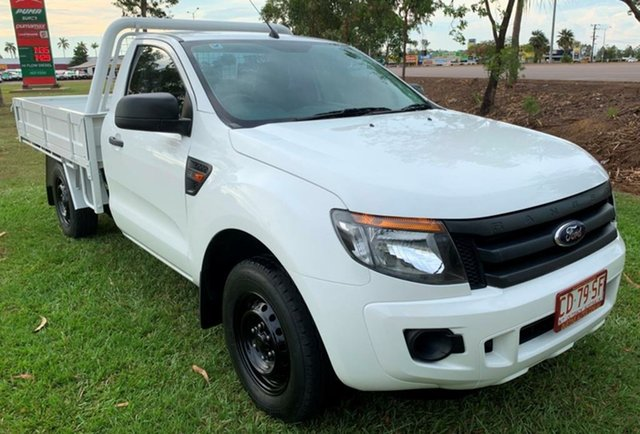 Used Ford Ranger PX XL 4x2, 2014 Ford Ranger PX XL 4x2 White 6 Speed Manual Cab Chassis