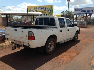 2002 Holden Rodeo White 5 Speed Manual Dual Cab.