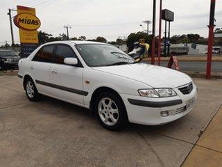 1999 Mazda 626 GF Classic White 4 Speed Automatic Sedan.