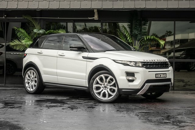 Used Land Rover Range Rover Evoque L538 MY13 Si4 CommandShift Dynamic, 2012 Land Rover Range Rover Evoque L538 MY13 Si4 CommandShift Dynamic White 6 Speed Sports Automatic